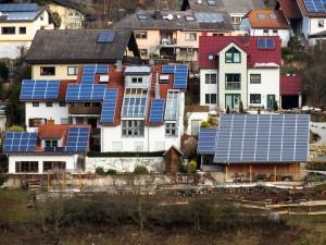 An assortment of solar roof designs